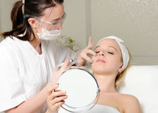 De injectie van de schoonheidsbehandeling Royalty-vrije Stock Fotografie