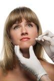 De injecties van Botox Stock Foto's