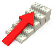 De inkomensgroei Royalty-vrije Stock Foto