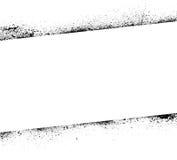 De inkt bevlekt kaderbanner Stock Afbeeldingen