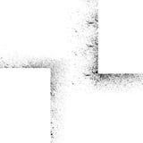 De inkt bevlekt vierkante reeks Royalty-vrije Stock Fotografie