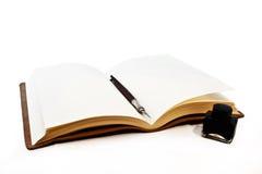 De inkt en de pen van het boek Stock Afbeelding