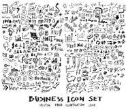 De inkt eps10 van de bedrijfskrabbelsschets Stock Fotografie