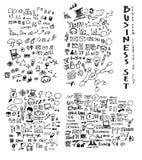 De inkt eps10 van de bedrijfskrabbelsschets Stock Afbeeldingen