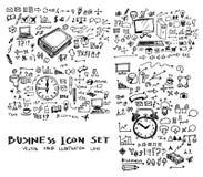 De inkt eps10 van de bedrijfskrabbelsschets Stock Foto's