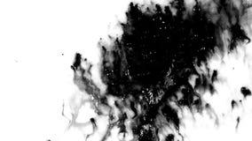 De inkt spreidt uit stock videobeelden