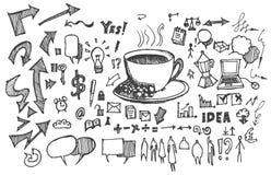 De inkt van de bedrijfskrabbelsschets handrawn Stock Afbeelding