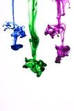 De inkt van de kleur in water Royalty-vrije Stock Foto's