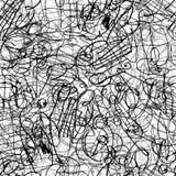 De inkt van de pen strijkt naadloos patroon Stock Afbeelding