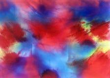 De inkt van de waterverf het schilderen Royalty-vrije Stock Foto's