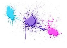 De inktplons van de kleur Stock Foto