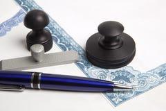De inktzegel van de notaris Stock Foto