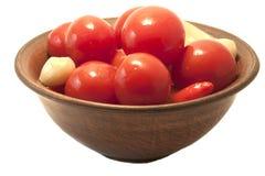 De inlagda tomaterna Fotografering för Bildbyråer
