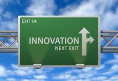 De innovatie voorziet van wegwijzers Stock Foto's