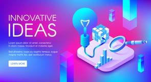De innovatieve vectorillustratie van de ideeënlamp royalty-vrije illustratie