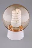 De inrichting met een lichtende lamp Stock Foto