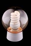 De inrichting met een lichtende lamp Royalty-vrije Stock Foto's