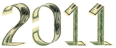 De inschrijving 2011 gemaakt van bankbiljetten Royalty-vrije Stock Foto