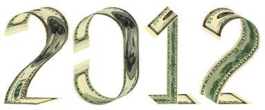 De inschrijving 2012 gemaakt van bankbiljetten Royalty-vrije Stock Fotografie