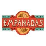 De inschrijving Empanadas maakte in de stijl van het van letters voorzien of teken Royalty-vrije Stock Afbeelding