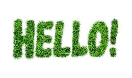 De inschrijving ` Hello ` Stock Foto