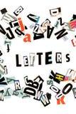 De inschrijving van brieven royalty-vrije stock fotografie