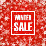 De inschrijving van de de winterverkoop op achtergrond Royalty-vrije Stock Afbeeldingen