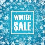 De inschrijving van de de winterverkoop op achtergrond met Royalty-vrije Stock Foto