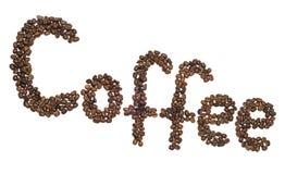 De inschrijving van de koffie royalty-vrije stock fotografie