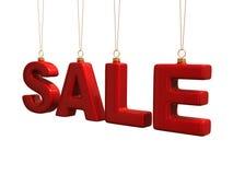 De inschrijving van de verkoop die van de balbrieven van Kerstmis wordt gemaakt Royalty-vrije Stock Fotografie