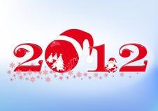 De inschrijving van het nieuwjaar (aantallen) 2012 royalty-vrije stock afbeelding