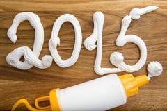 de inschrijving van 2015 op de raad met room Royalty-vrije Stock Foto