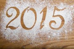 de inschrijving van 2015 op houten Stock Fotografie