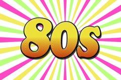 De inschrijvings` jaren '80 ` in beeldverhaalstijl stock fotografie