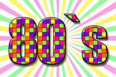 De inschrijvings` jaren '80 ` in beeldverhaalstijl stock foto