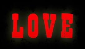 De inschrijvings` Liefde ` Royalty-vrije Stock Foto