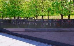 De inschrijvingsvrijheid is geen Vrije Koreaanse Oorlogsveteranen Herdenkingswashington royalty-vrije stock afbeelding