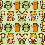 De Insecten van het beeldverhaal Stock Foto