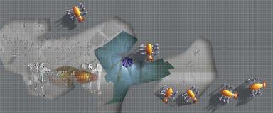 De Insecten van Robo op reparatie Royalty-vrije Stock Afbeeldingen