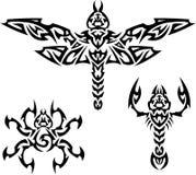 De Insecten van tatoegeringen Stock Afbeeldingen