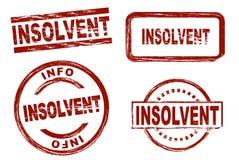 De insolvente reeks van de inktzegel Stock Foto