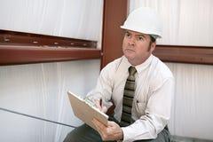 De Inspecteur van de bouw - Hoeken stock afbeeldingen