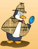 De inspecteur van de pinguïn stock afbeelding