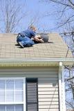 De inspecteur van het dak stock fotografie