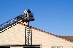 De inspectie van de schoorsteen stock foto