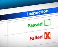 De inspectie vloeit bedrijfsadministratie voort Stock Foto