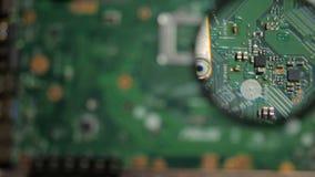 De inspectieraad van laptop stock footage