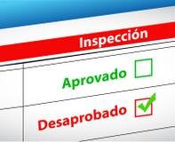 De inspectieresultaten gingen over of ontbreken Stock Fotografie