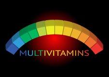 De inspiratie van het Multivitaminetiket, de geïsoleerde vitaminen van het pictogramconcept, Royalty-vrije Stock Foto's