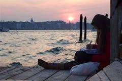 De inspiratie van Venetië van authoress Stock Foto's